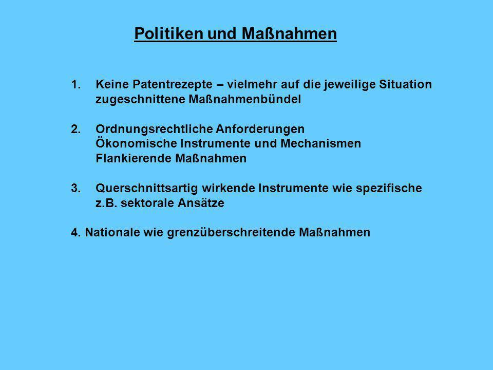 Politiken und Maßnahmen