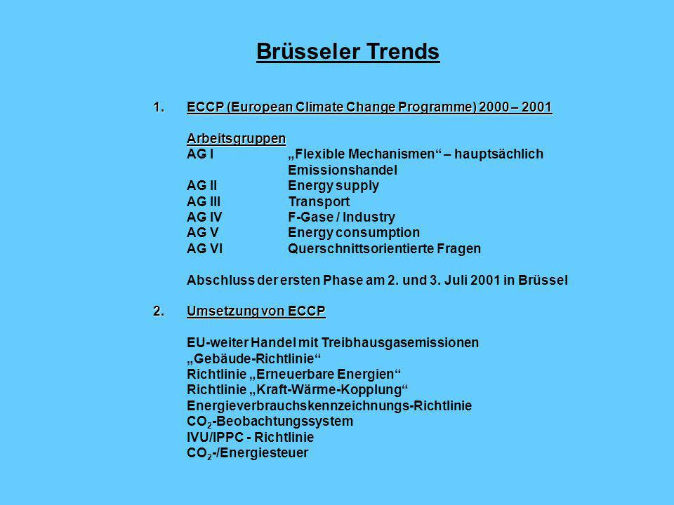 Brüsseler Trends ECCP (European Climate Change Programme) 2000 – 2001