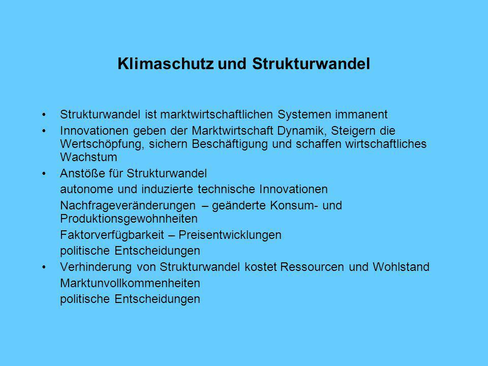 Klimaschutz und Strukturwandel