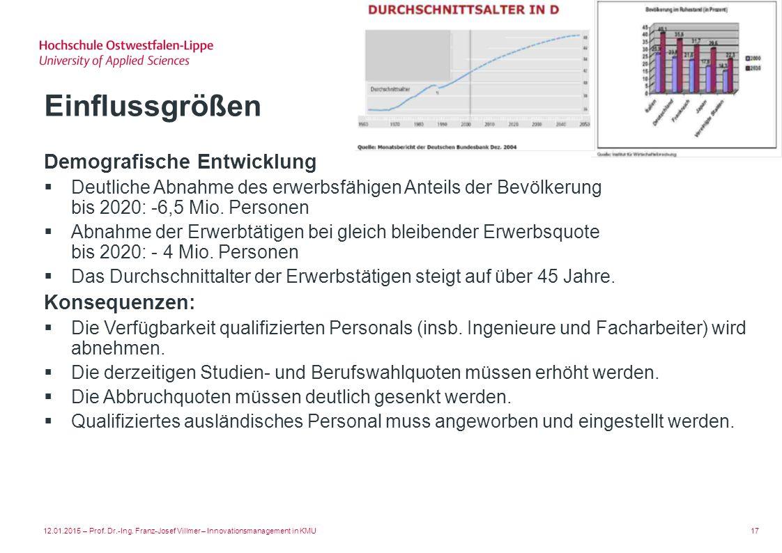 Einflussgrößen Demografische Entwicklung Konsequenzen: