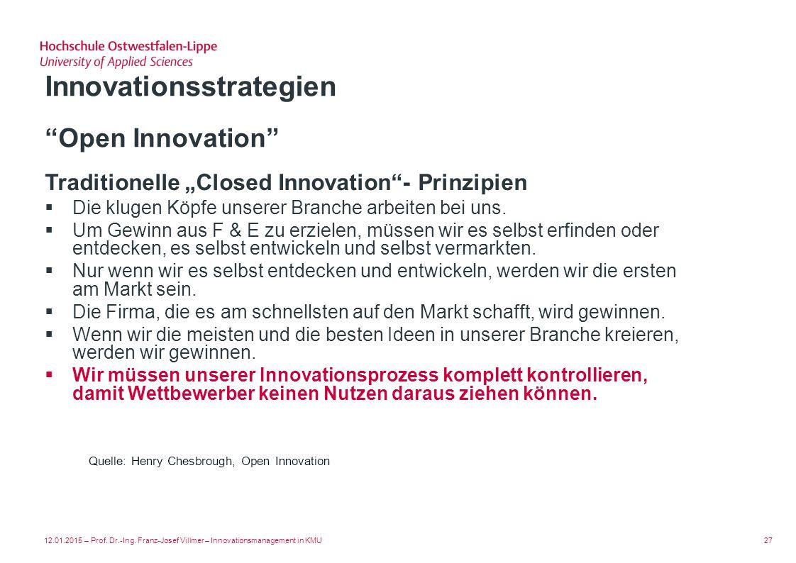 Open Innovation Innovationsstrategien