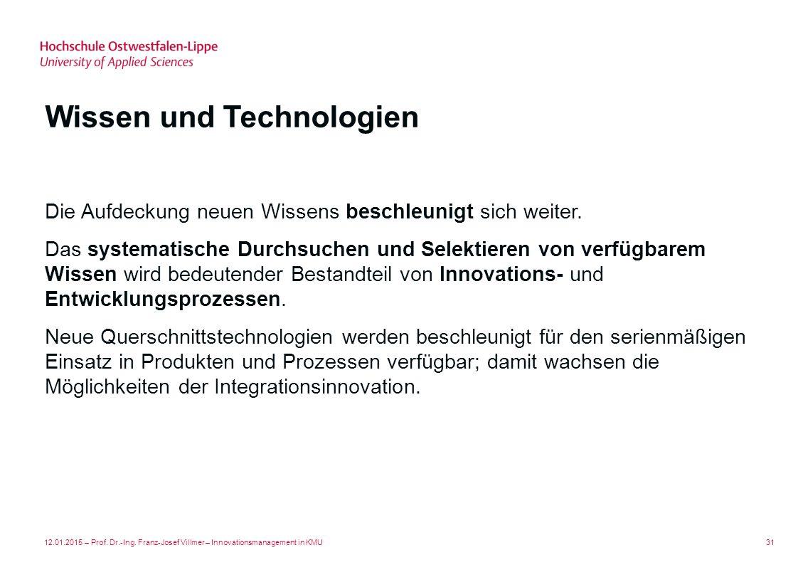 Wissen und Technologien