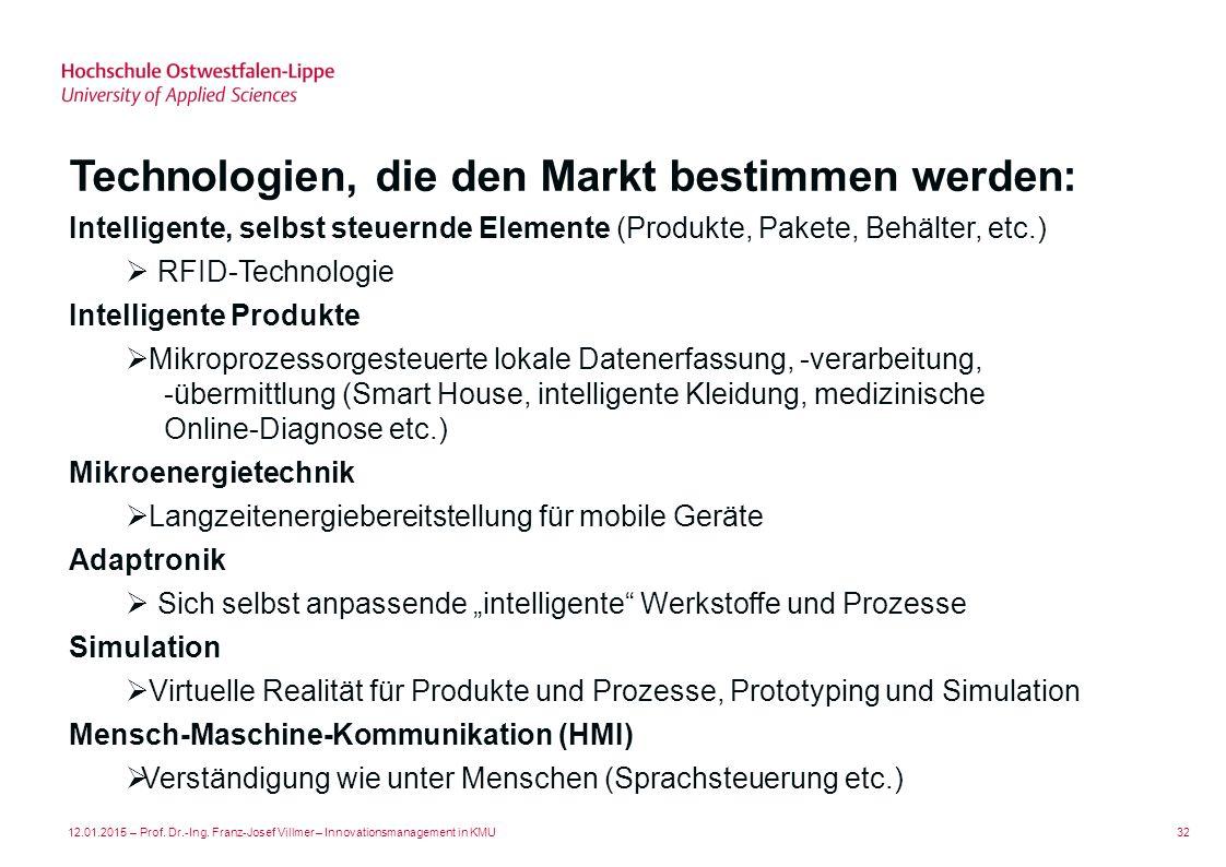 Technologien, die den Markt bestimmen werden: