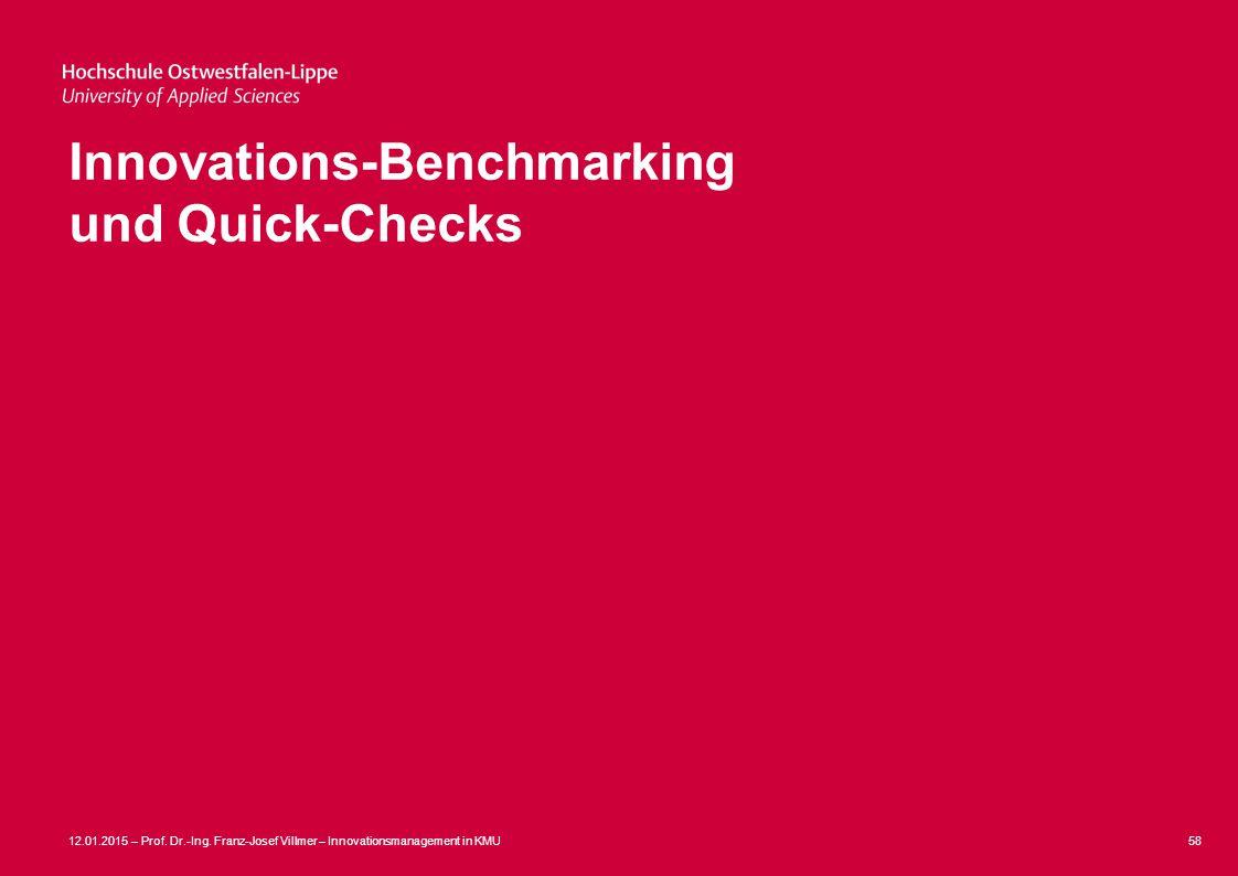 Innovations-Benchmarking und Quick-Checks