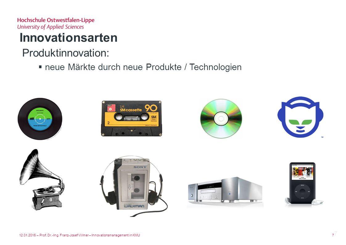 Innovationsarten Produktinnovation: