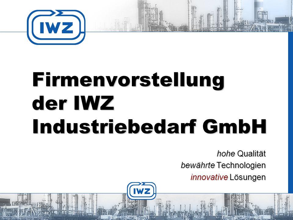 Firmenvorstellung der IWZ Industriebedarf GmbH