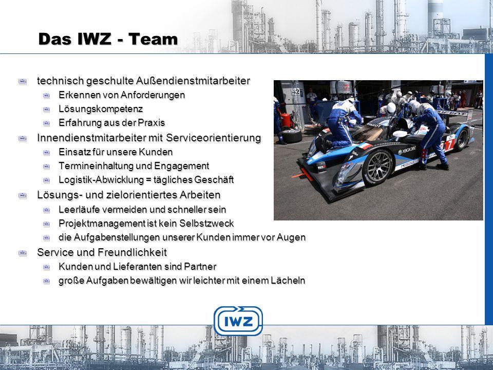 Das IWZ - Team technisch geschulte Außendienstmitarbeiter