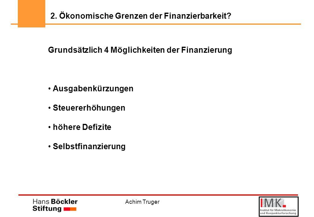 2. Ökonomische Grenzen der Finanzierbarkeit