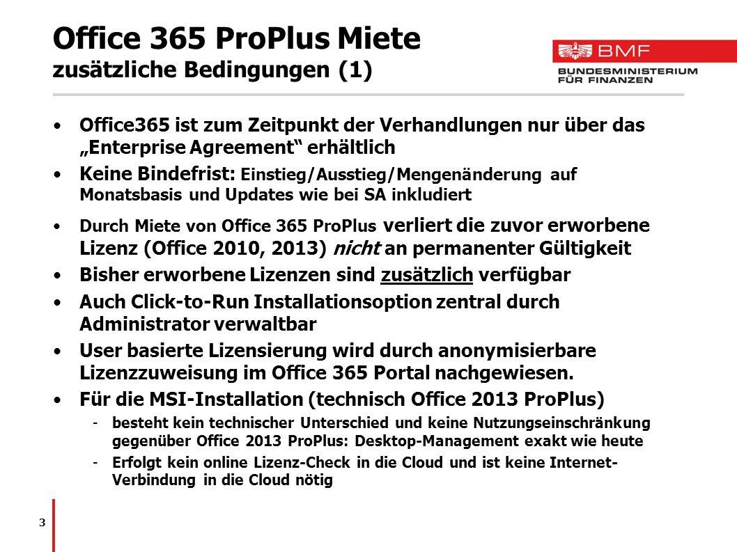 Office 365 ProPlus Miete zusätzliche Bedingungen (1)