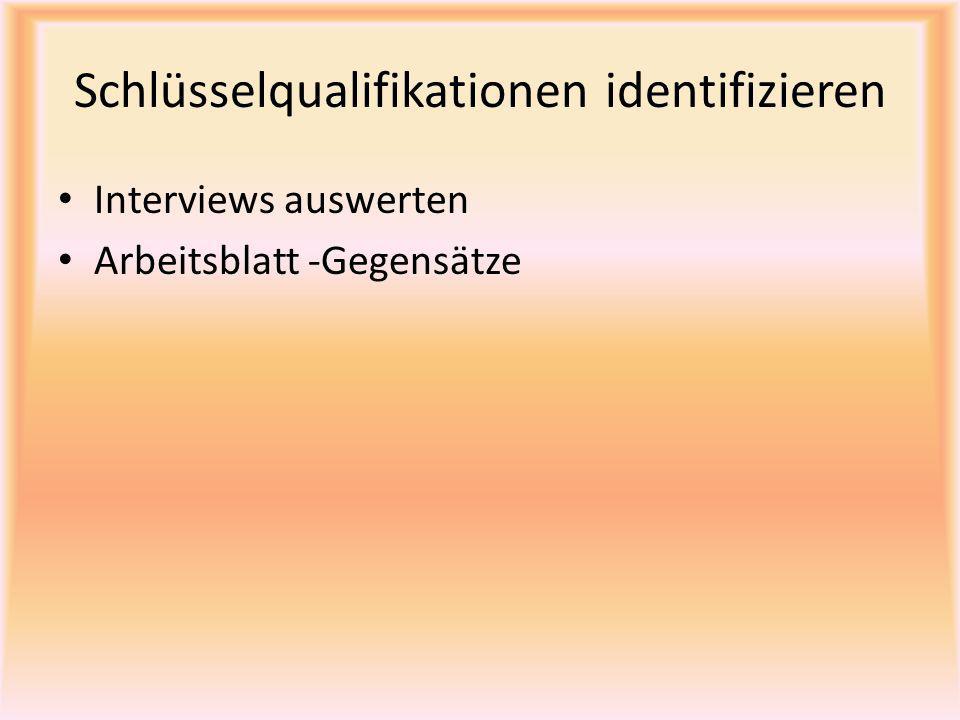 Schlüsselqualifikationen identifizieren