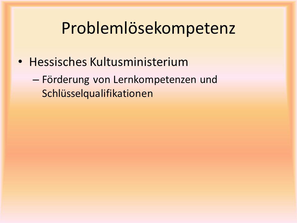 Problemlösekompetenz