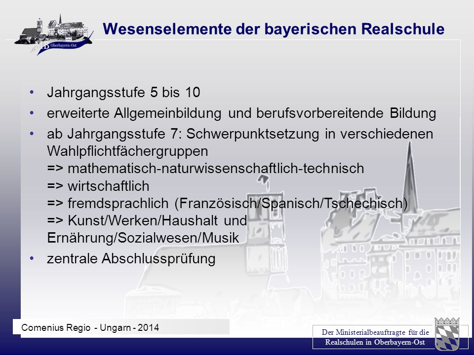 Wesenselemente der bayerischen Realschule