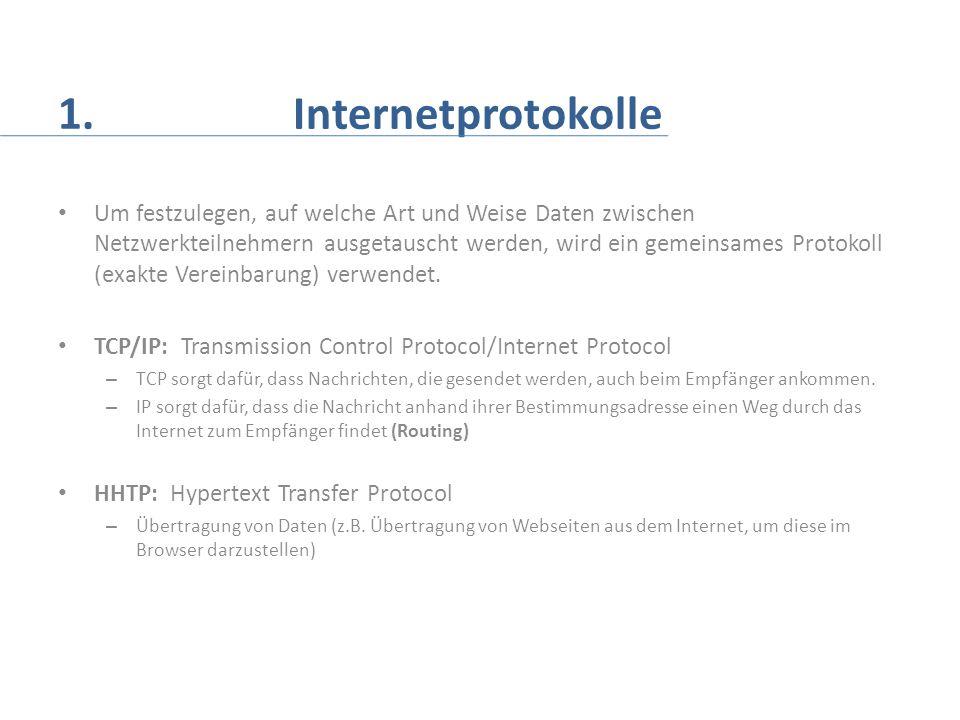1. Internetprotokolle