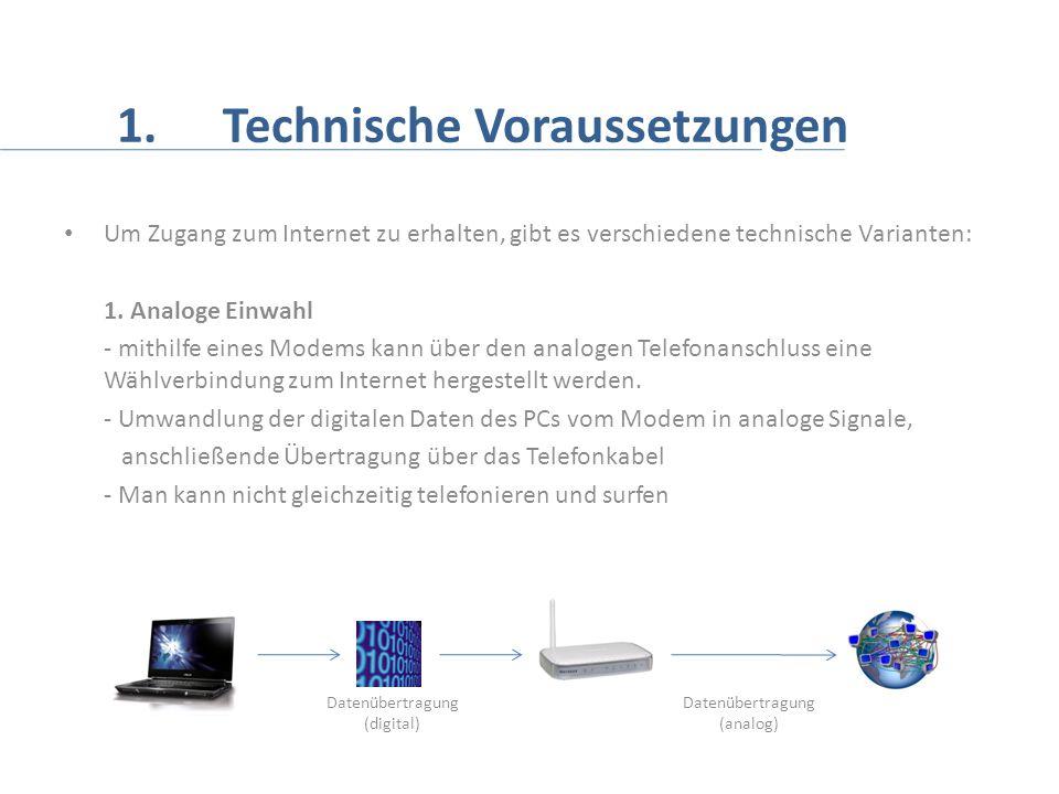 1. Technische Voraussetzungen