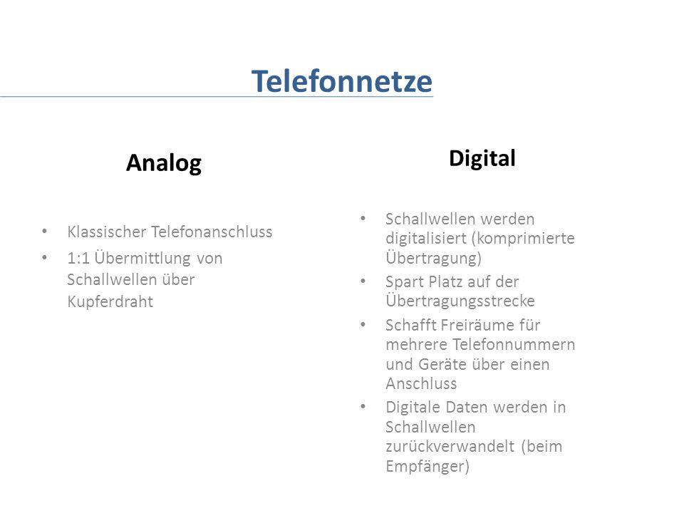 Telefonnetze Analog Digital