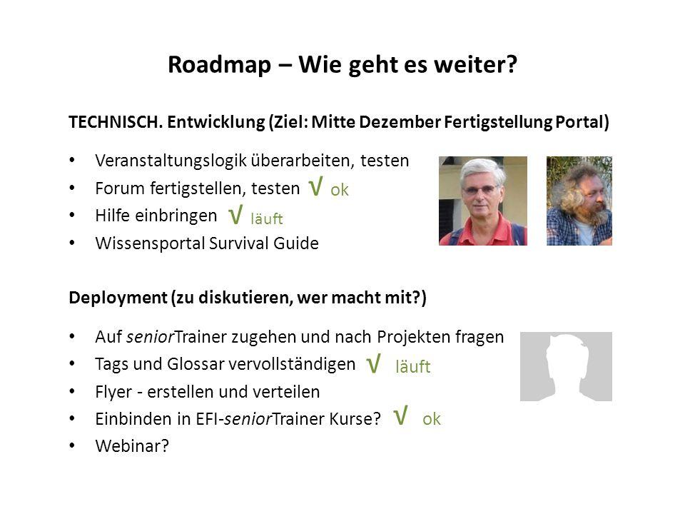 Roadmap – Wie geht es weiter