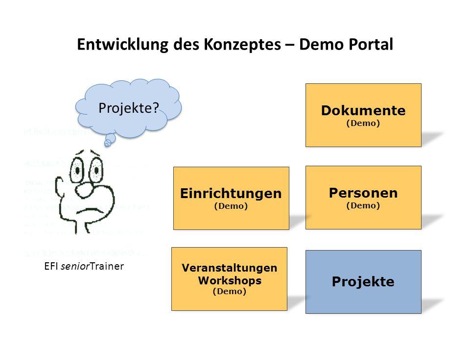 Entwicklung des Konzeptes – Demo Portal