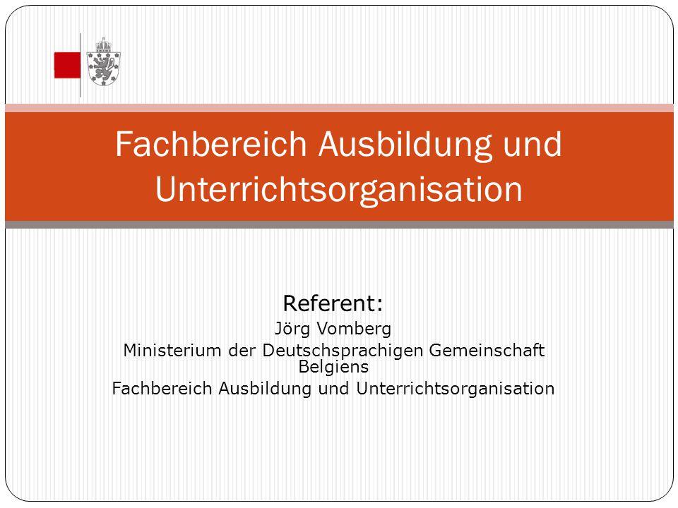 Fachbereich Ausbildung und Unterrichtsorganisation