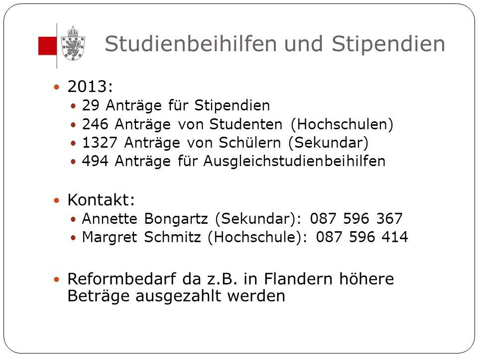 Studienbeihilfen und Stipendien