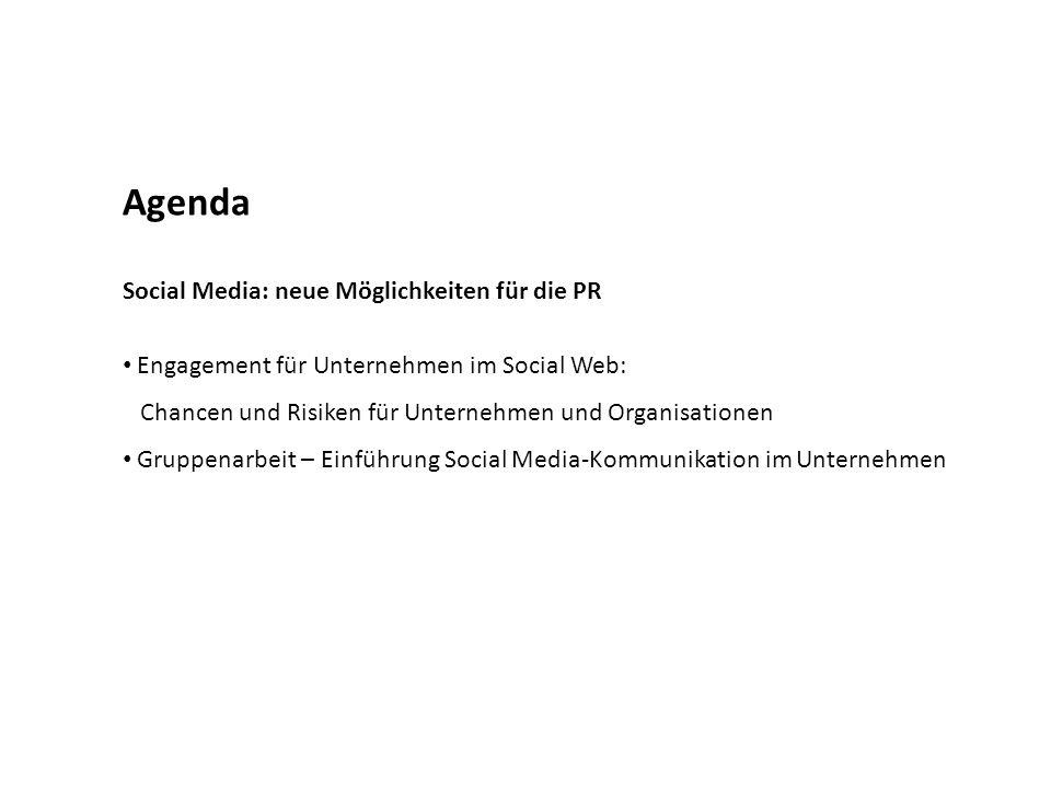 Agenda Social Media: neue Möglichkeiten für die PR