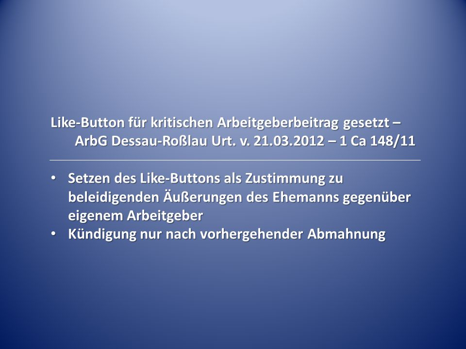 Like-Button für kritischen Arbeitgeberbeitrag gesetzt –