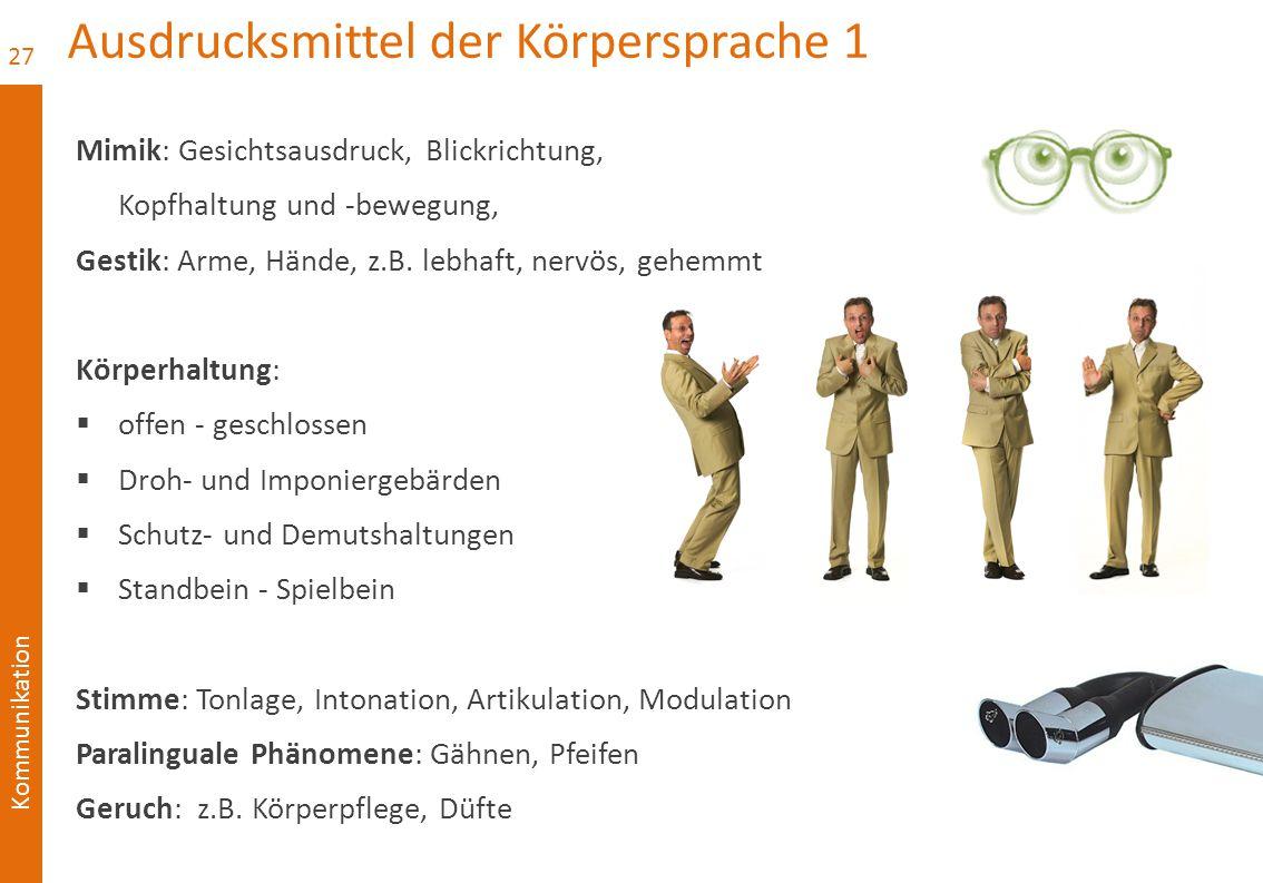 Ausdrucksmittel der Körpersprache 1