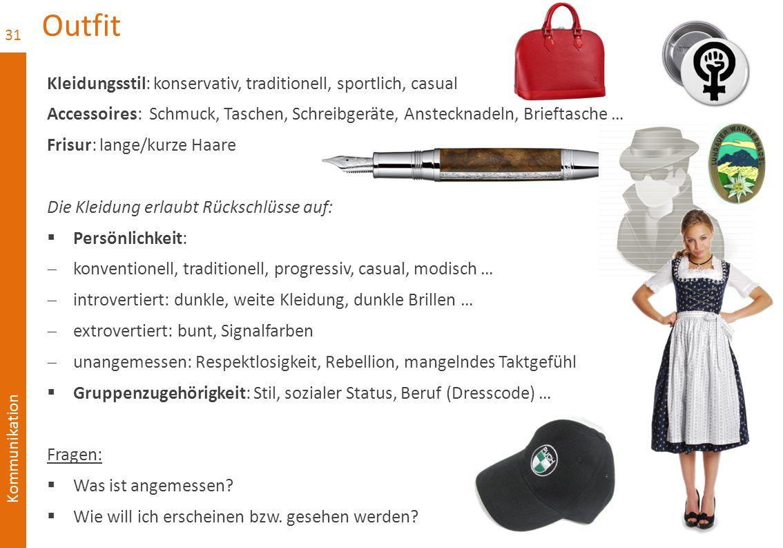 Outfit Kleidungsstil: konservativ, traditionell, sportlich, casual