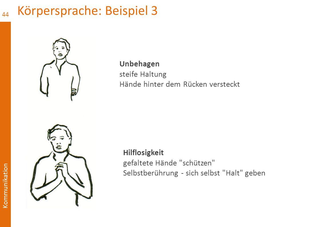 Körpersprache: Beispiel 3