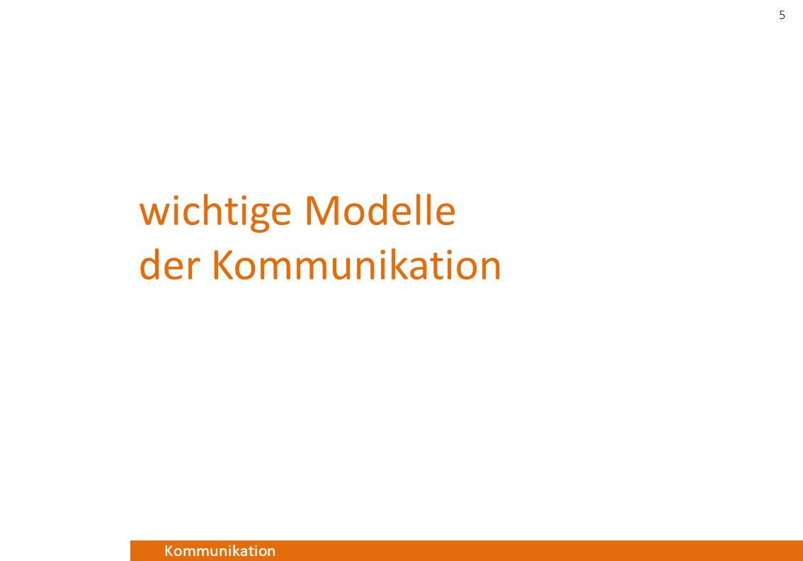 wichtige Modelle der Kommunikation