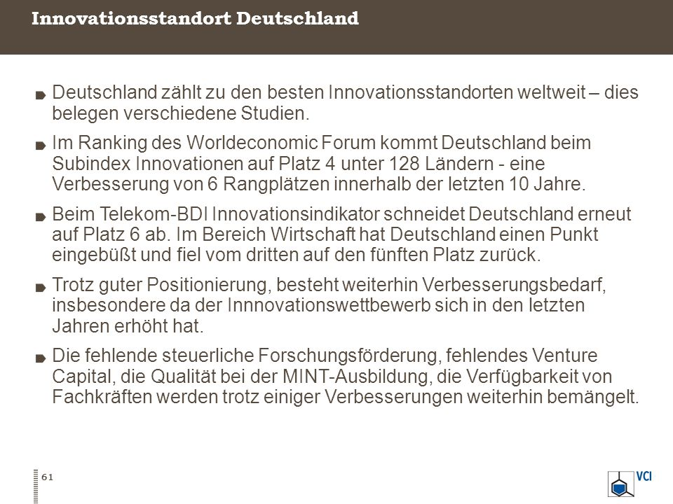 Innovationsstandort Deutschland