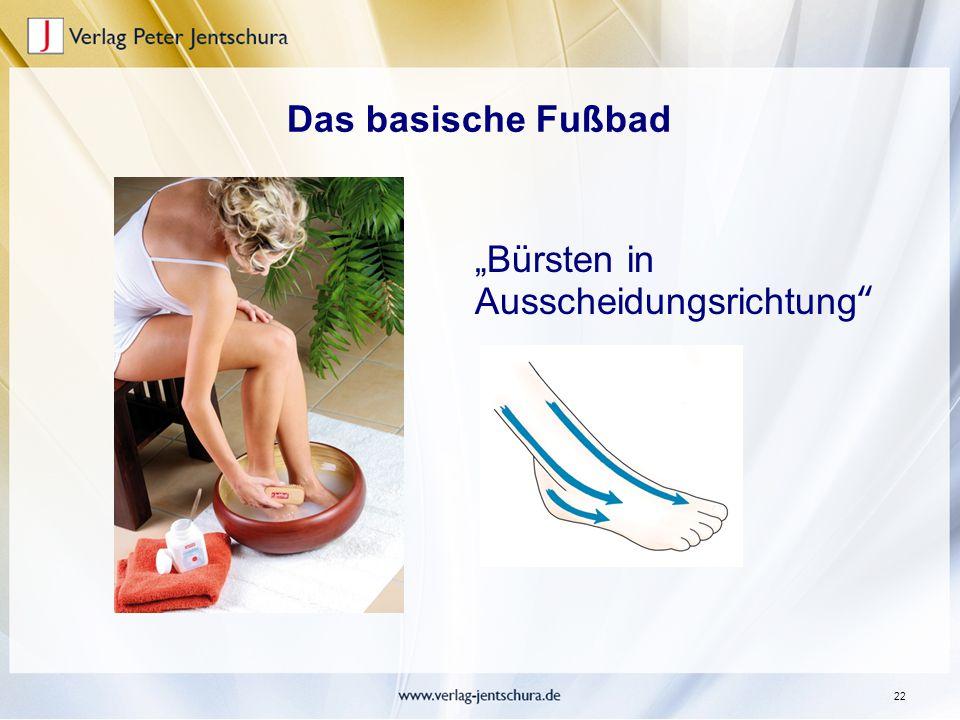 """Das basische Fußbad """"Bürsten in Ausscheidungsrichtung"""