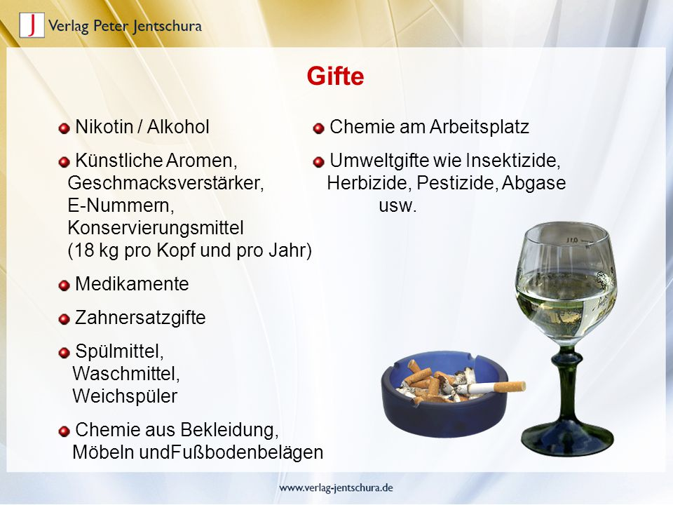 Gifte Nikotin / Alkohol