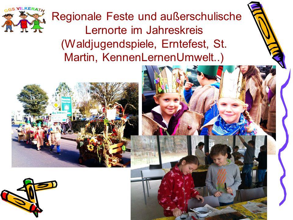 Regionale Feste und außerschulische Lernorte im Jahreskreis (Waldjugendspiele, Erntefest, St.