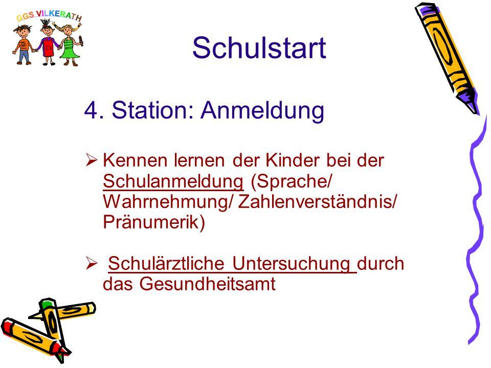 Schulstart 4. Station: Anmeldung