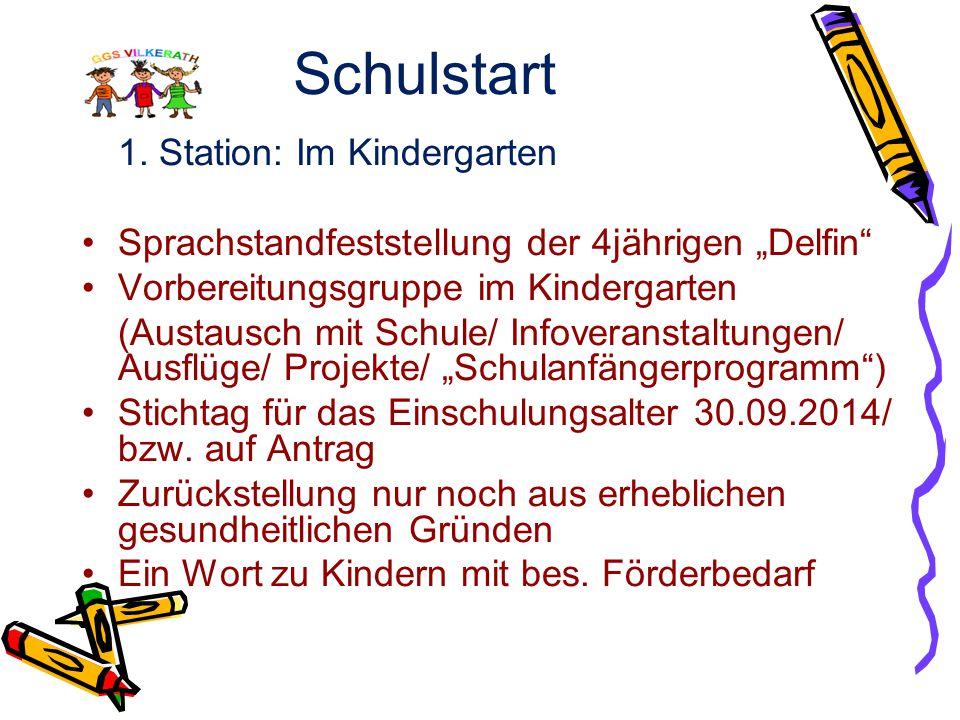Schulstart 1. Station: Im Kindergarten