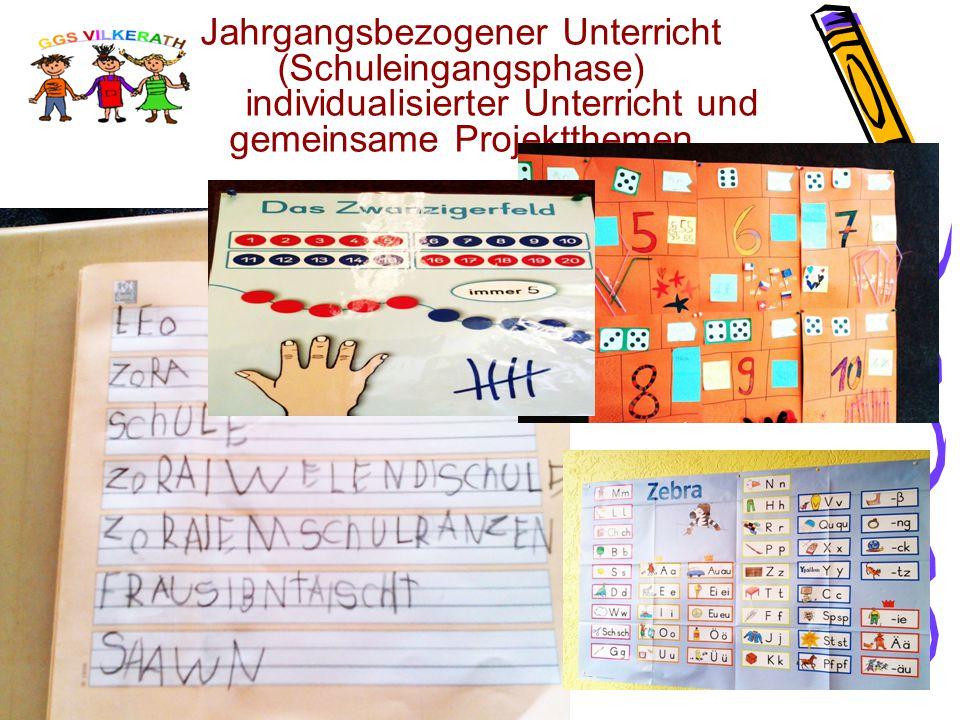 Jahrgangsbezogener Unterricht (Schuleingangsphase) individualisierter Unterricht und gemeinsame Projektthemen