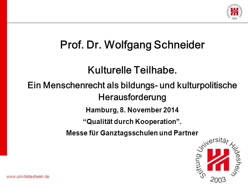 Prof. Dr. Wolfgang Schneider