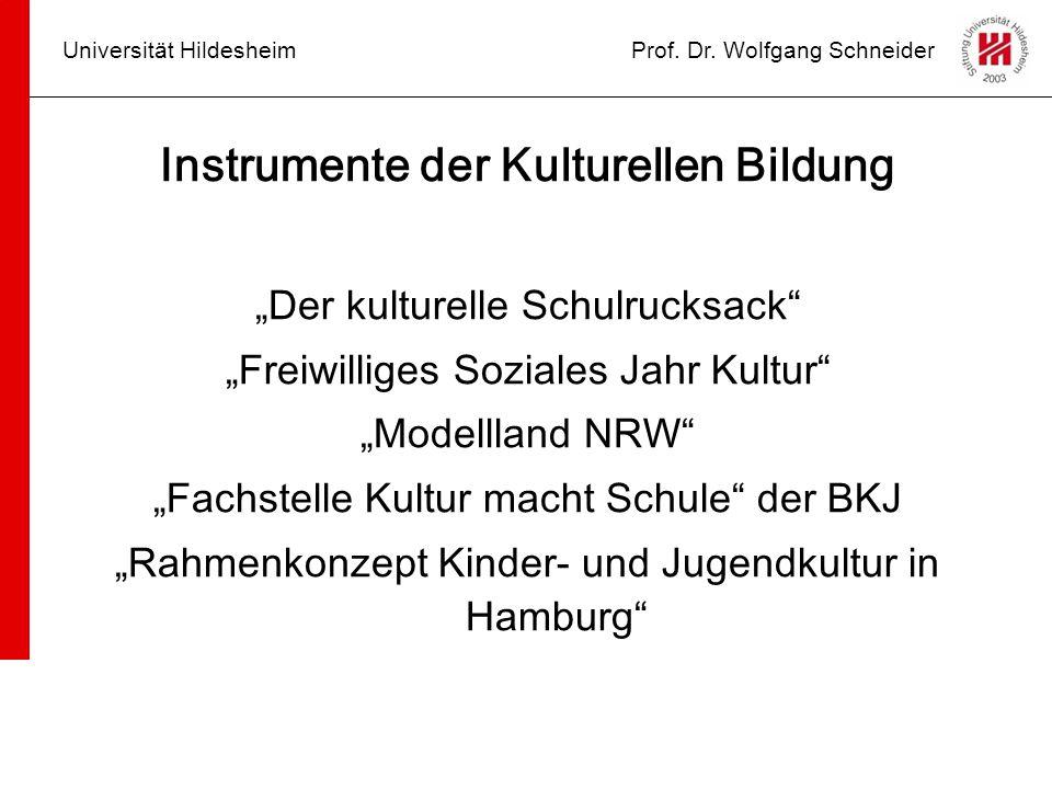 Instrumente der Kulturellen Bildung