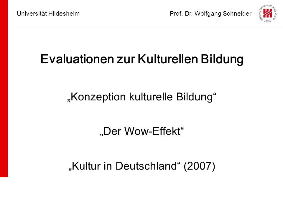 Evaluationen zur Kulturellen Bildung