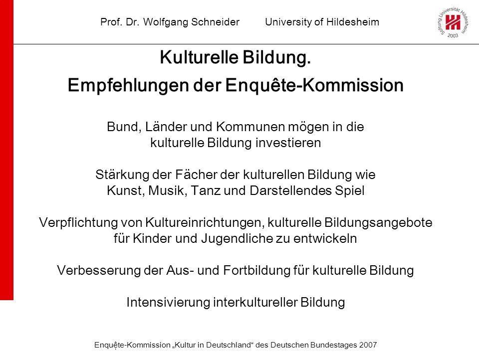 Empfehlungen der Enquête-Kommission