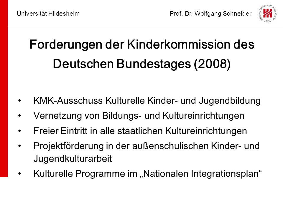 Forderungen der Kinderkommission des Deutschen Bundestages (2008)