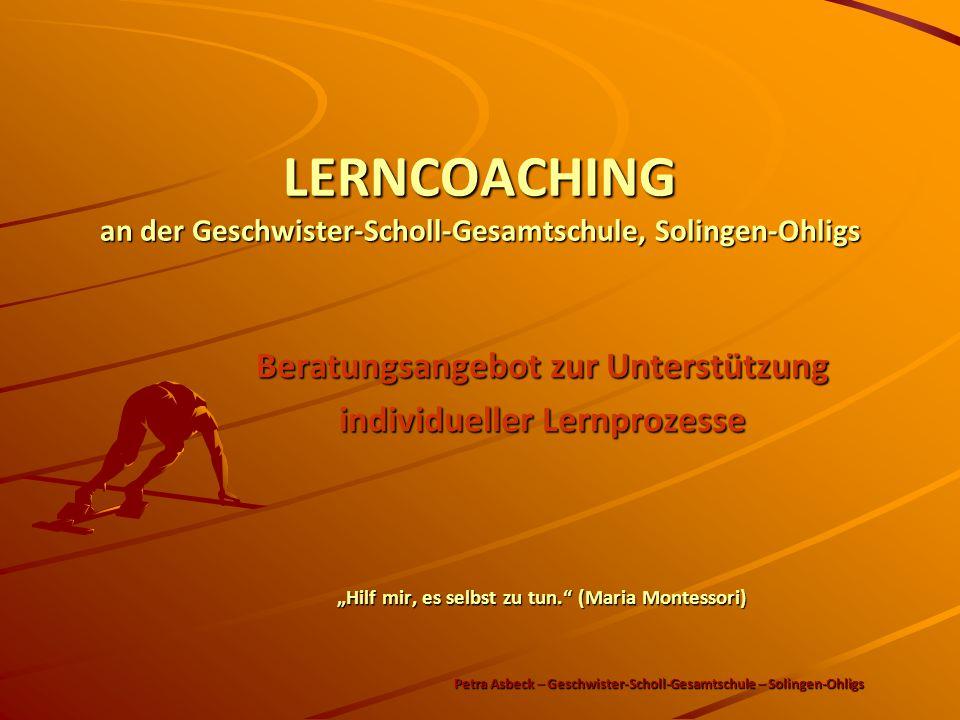 LERNCOACHING an der Geschwister-Scholl-Gesamtschule, Solingen-Ohligs