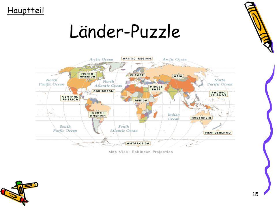 Hauptteil Länder-Puzzle