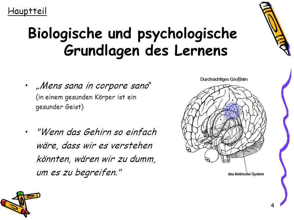 Biologische und psychologische Grundlagen des Lernens