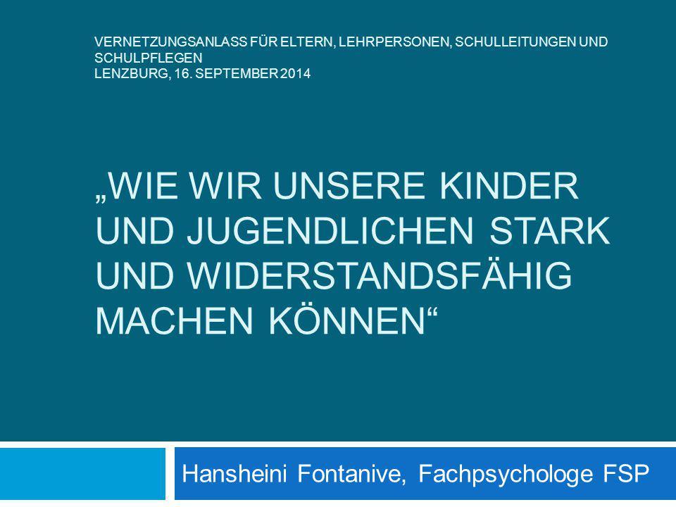 Hansheini Fontanive, Fachpsychologe FSP