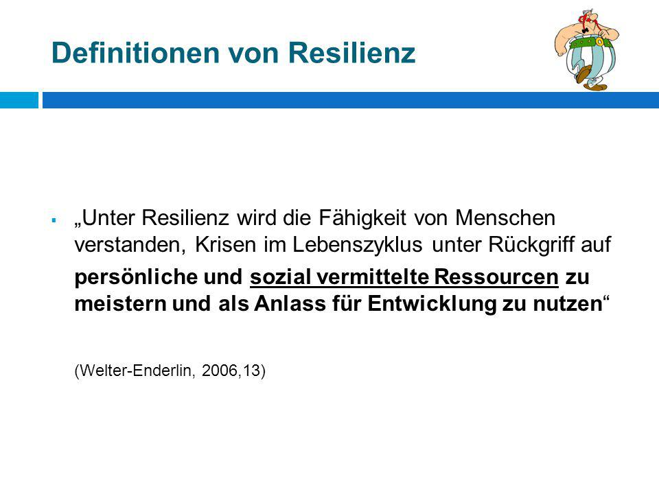 Definitionen von Resilienz
