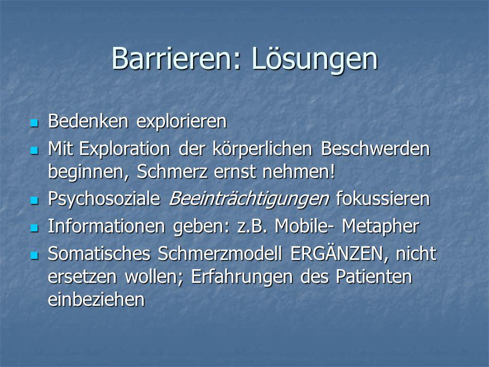 Barrieren: Lösungen Bedenken explorieren