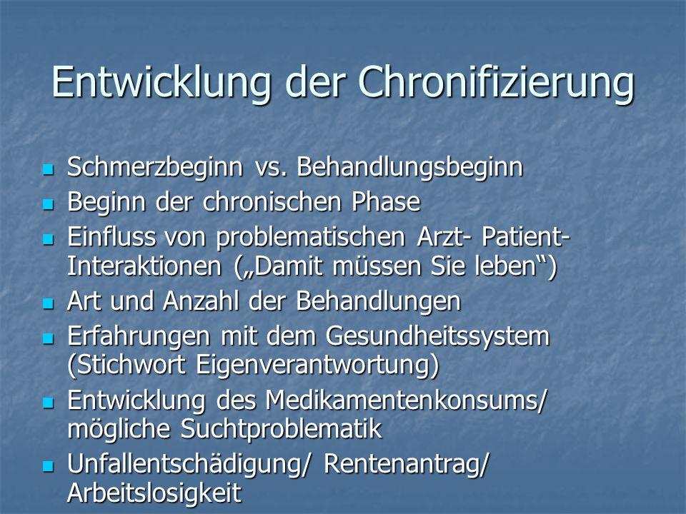 Entwicklung der Chronifizierung