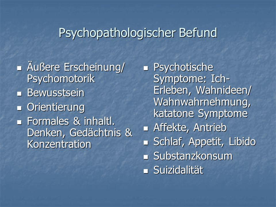 Psychopathologischer Befund