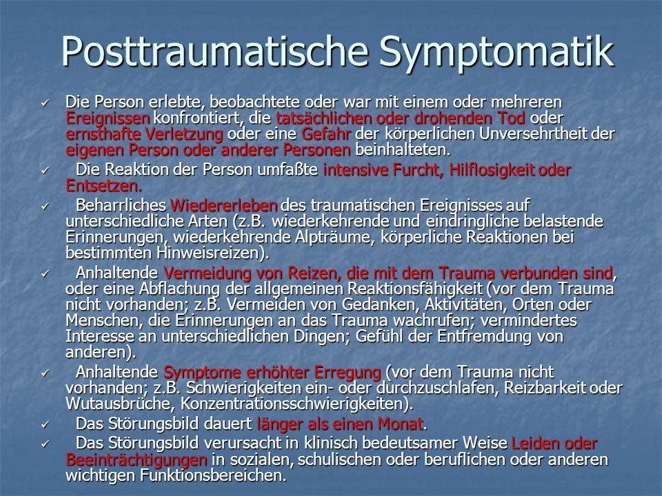 Posttraumatische Symptomatik